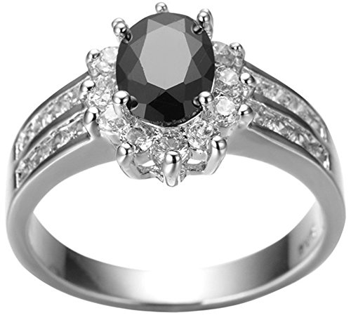 SaySure 10KT White Gold Filled Oval Anniversary Wedding & Engagement Ring