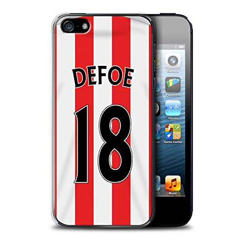 Offiziell Sunderland AFC Hülle / Case für Apple iPhone 5/5S / Pack 24pcs Muster / SAFC Trikot Home 15/16 Kollektion Defoe