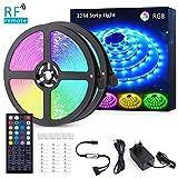 32M Striscia LED RGB, Novostella 960 LED 5050 Luci LED Colorate 24V, LED Strip Dimmerabile con RF Telecomando di 44 Tasti, Luce Decorazione Interna, Domestica, Cucina, Bar, Feste