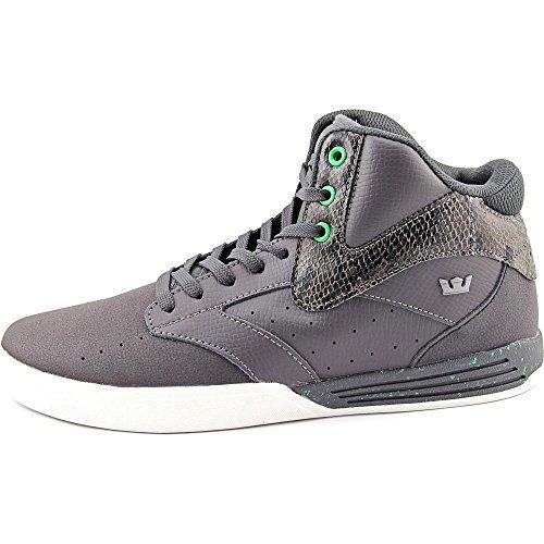 Supra KHAN Unisex-Erwachsene Hohe Sneakers Grey / black - white