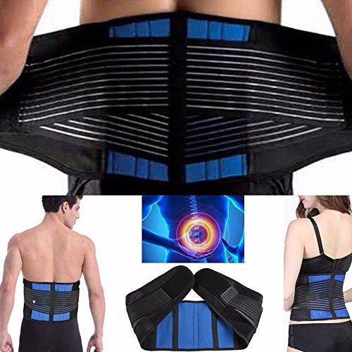 CSL Deluxe Neopren Doppelgurte Rückenstütze Lordosenstütze Taille Brace Relief für Ischias für Männer und Frauen (S 60 - 70 cm) - Ischias Relief