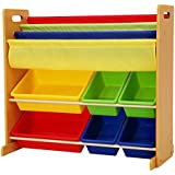 Homesmiths Toy Organizer with Book Rack White Board