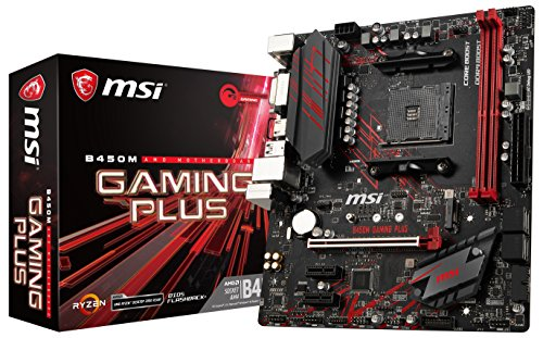 MSI B450M Gaming Plus - Placa Base Gaming (AM4, AMD B450, 1...