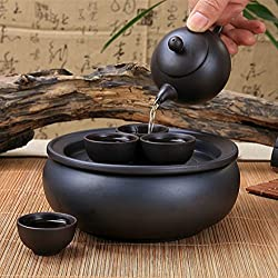 GENERIC D : Yixing tea tray tea set teapot teacup and saucer set glaze Car travel portable package ceramic teapot