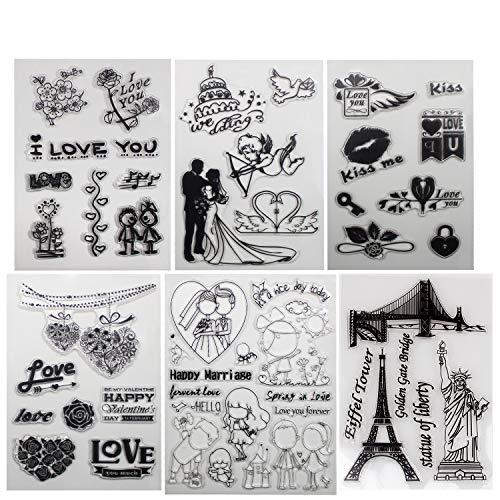 B-Sin Transparente Stempel für Weihnachtsmotive DIY Scrapbooking Dekoration Karten Basteln Zubehör Valentine-clear Stamp