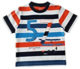 Short Sleeve Striped T-Shirt With Print ...