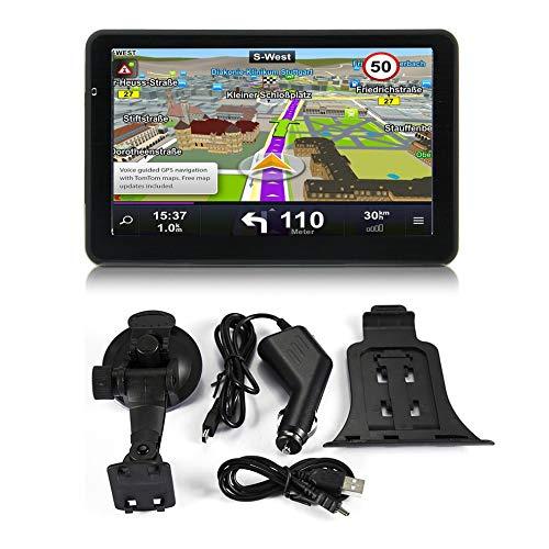710 7 Zoll Auto LKW GPS Navigation 256 Mt + 8 GB Kapazitiven Bildschirm FM Navigator Rückfahrkamera Berührungssensor Genau Positionieren Tft-lcd-memory-card-slot