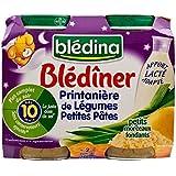 Légumes Blédina De Blediner Et Les Pâtes (10 Mois) 2 X 200G - Paquet de 4