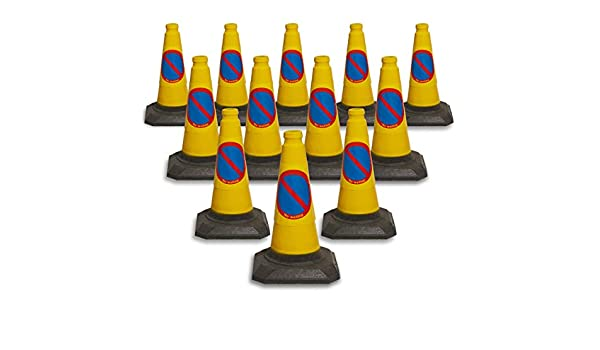 PACK OF 12 NO WAITING CONES 450mm by innovatus