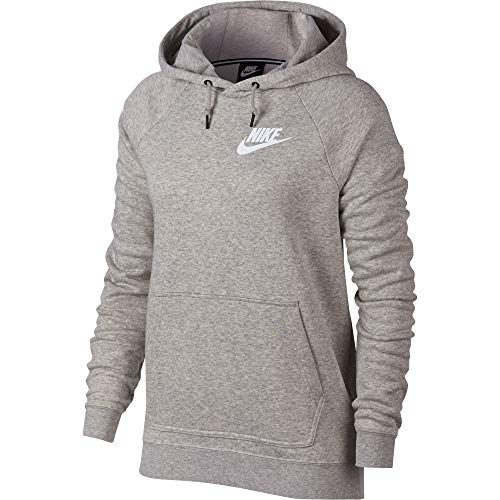 Nike Damen W NSW Rally Sweatshirt, Heather/Pale Grey/White, XS