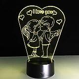 3D Visuelle Birne Optische Täuschung Bunte LED Tischlampe Touch Romantisches Licht Ich Liebe Dich Herz Hochzeit Party Decor Liebhaber Geschenk
