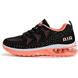 Fexkean Hommes Femme Basket Mode Chaussures de Sports Course Sneakers Fitness Gym athlétique Multisports Outdoor Casual(A35Pink37)