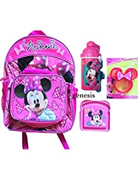 Preisvergleich für Minnie Mouse Rucksack Mittagessen Tasche Anhang, Thermo, Sandwich & Minnie Shaped Crust Cutter zur¨¹ck zu Schule...