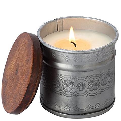 Himalayan Candles Daisy Chain Rain Barrel Iron Pot Candle