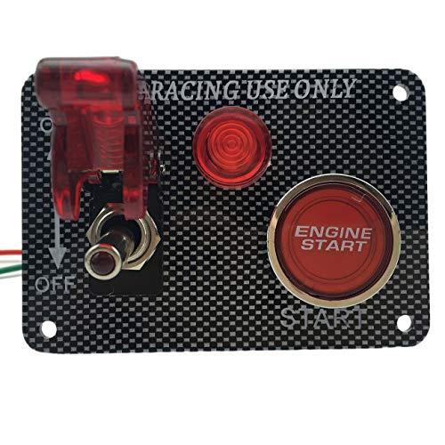 Power Off Switch Panel Multifunktionsqualität Zündstartschalter Red Push Button Aircraft Kit für Rennwagen JBP-X - Carbon Entflammbar X-schwer