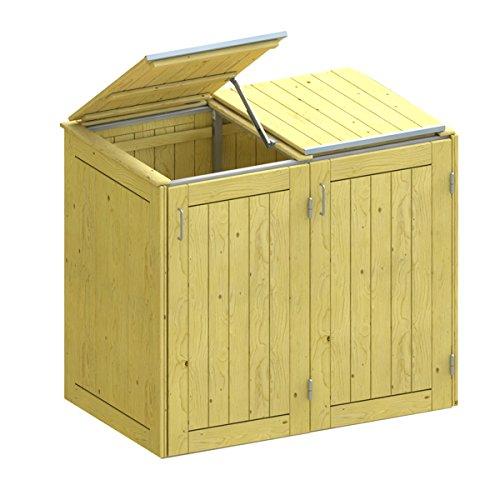 BINTO Nadelholz Mülltonnenbox, Müllbox System 3