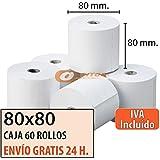 """60 Rollos Papel Térmico 80x80 """"Envío Gratis Urgente"""""""