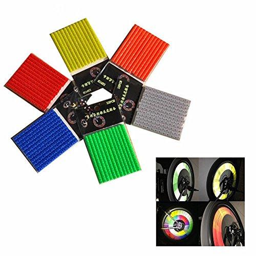 2 STK Fahrrad Rad Tuben Speichen Reflektor, Reflektierende Ausrüstung Clip, Tube Warnung Band Streifen ()