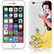 Carcasa flexible diseño de princesas Disney, transparente, para Apple iphone 5, 5S, 5C, 6, 6S, plástico, SNOW WHITE 1, APPLE iPhone 6 Plus .s