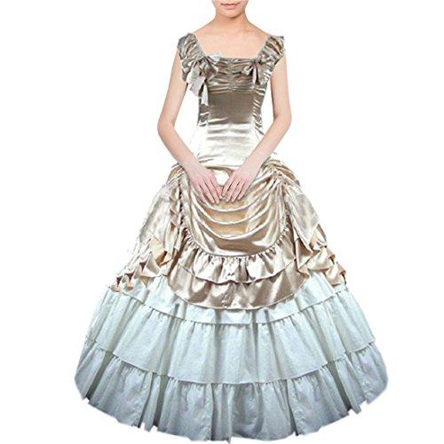 Nœud femme Motif Gothic Lolita sol Longueur de la robe Champagne