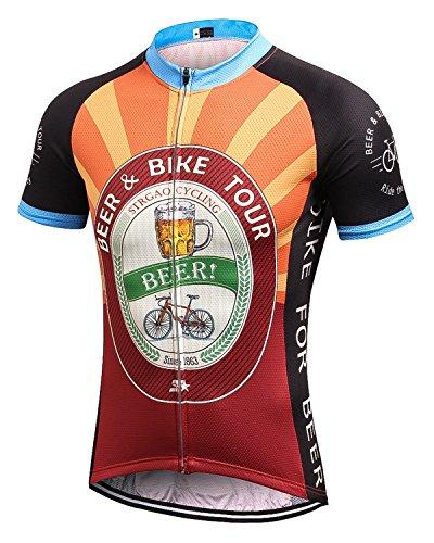 2017 New Sommer Herren M?nner Kurze Hülse Zyklus Jersey Kurzarm Fahrradtrikot Fahrrad Hemd Fahrrad Radfahren Trikot Cycling Jersey Bike Shirt 3XL (Loose Fit Bike Short)