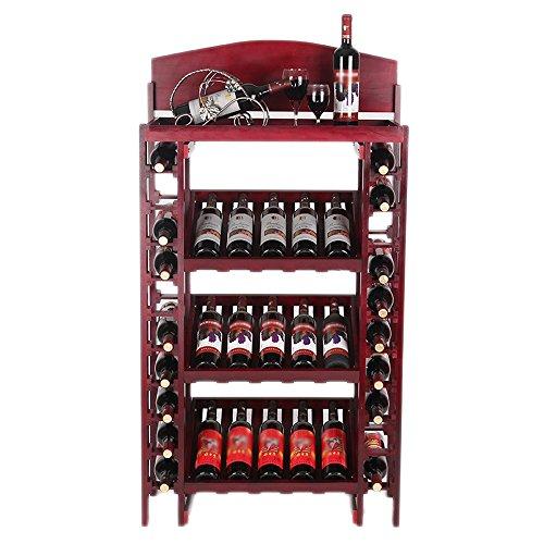YOUjU YX Shop Retro-Weinkühler Aus Massivem Holz Im Europäischen Stil Mit Einem Boden Aus...