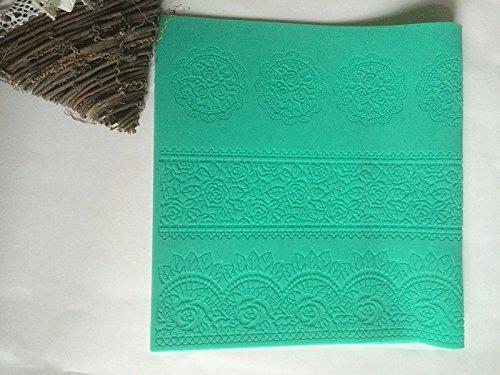 Silikon matte essbare Spitze Tortendeko Cake Lace Ausstechform Fondant Mould Ausstecher 139 (Frozen Cake Decor)