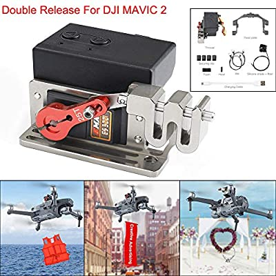 YUYOUG Drone Clip Payload Delivery Drop Transport Device Drone Release Fishing Bait Carrying Wedding Proposal Device For DJI MAVIC 2 Pro/Zoom