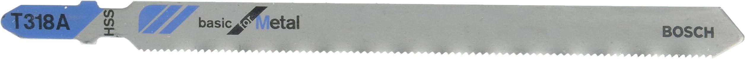 Bosch T318A Jigsaw Blades for Metal-5pc