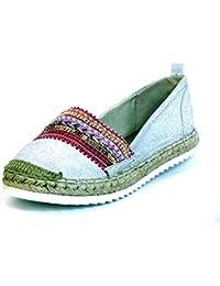 Mujeres Zapatos llanos plata 011018F4T SLVR