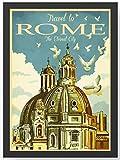 Retro Vintage Rom Kathedrale Kunstdruck Poster -ungerahmt-