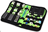 Austuccio/Case/Borsa/ porta hard diskNylon Fabric Storage Holder/Wallet/Case/Bag/Organizer for USB Flash Drives/Thumb Drives/Pen Drives/Jump Drives & HDD/Power Bank/SD Card/Ipod/Cell Phone