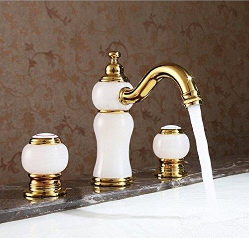 Gowe Laiton Matériau robinet, double poignée Mélangeur lavabo robinet