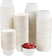 Bekith 200 Pack 2 oz Disposable Souffle Cups Portion Bagasse Container Compostable Biodegradable Eco-Friendly