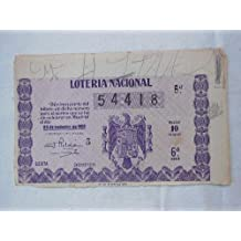Antiguo Billete de Loteria - Old Lottery Ticket : LOTERIA NACIONAL 25 SEPTIEMBRE 1952