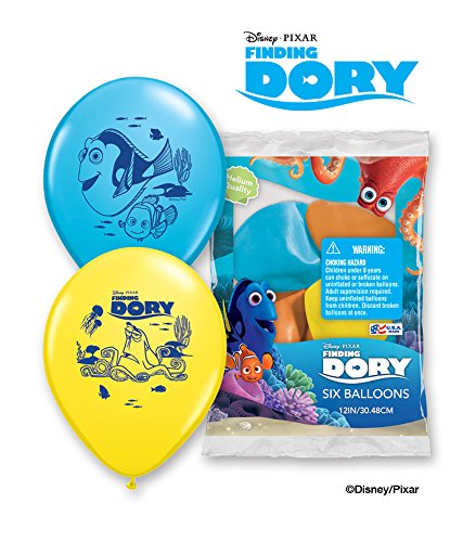 Party Supplies - Pioneer Latex Luftballons 6 CT 30,5 cm Disney Pixar Findet Dory 44893 (Pixar Party Supplies)