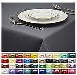 Rollmayer Tischdecke Tischtuch Tischläufer Tischwäsche Gastronomie Kollektion Vivid (Grafit 33, 140x220cm) Uni einfarbig pflegeleicht waschbar 40 Farben