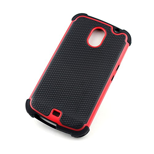 Bracevor Triple Layer Defender Back Case Cover for Samsung Galaxy Nexus i9250 - Red  available at amazon for Rs.299