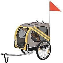 [pro.tec] Remolque de Bicicleta para Perros Cargador para Perros hasta 25 kg
