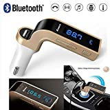 Gadget Villa Carg7. A with Turbo Charging LCD Bluetooth Car Charger Fm Kit