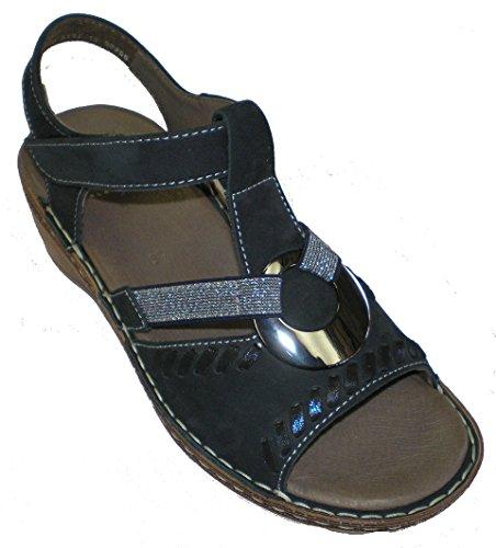 Ara 12-37255 Key-West femme sandale Bleu