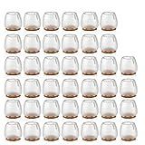 40 Piezas Silla de Silicona Pierna Pies Pies Almohadillas Muebles Cubiertas de Mesa Protectores de Piso para 25-29 MM Piernas Redondas Transparente An