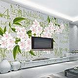 Luufei wallpaper romantico aprile fiore di ciliegio lettera foto wallpaper murale soggiorno camera da letto sfondo murale - 430 * 300CM