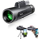 12x50 Télescope monoculaire, monoculaire haute puissance à haute optique, vision nocturne basse...