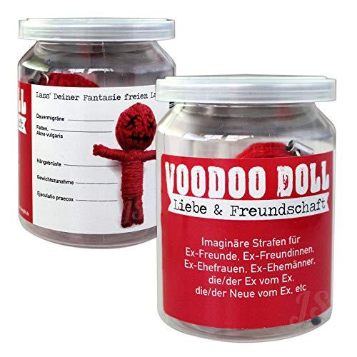 Preis am Stiel Voodoo Doll ''Liebe & Freundschaft'' | Vodoo Puppe | lustige Geschenke | Puppe in Dose | Esoterik Geschenk