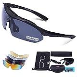 Sports Outdoors Beste Deals - Carfia Multi TR90 UV 400 Outdoor Sport Brille Polarisiert Sonnenbrille Radbrille mit 5 wechselbare Linsen für Skilaufen Golf Radfahren Laufen Angeln Baseball