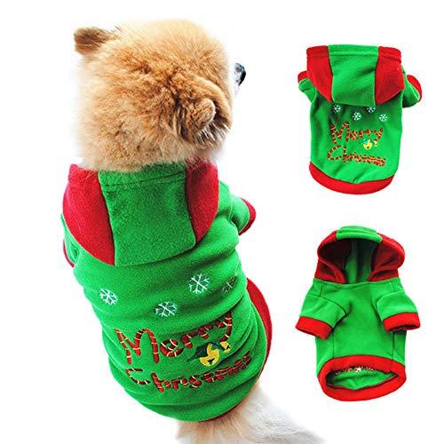 Leezo Halloween Pet Kostüm Verdickt Hoodie Kleidung Atmungsaktive Bekleidung Welpen Mode Niedlich Unisex Hunde Mantel Birthday Party Supplies - S/M / L/XL