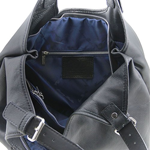 Tuscany Leather Gina Borsa shopping donna in pelle Nero Nero