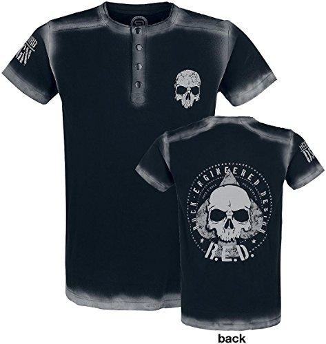 R.E.D. by EMP Embroidery Circle Skull Shirt T-Shirt schwarz Schwarz