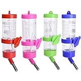 Dispenser in plastica per acqua per piccoli animali come conigli, criceti, scoiattoli, da 125 ml (colore casuale)
